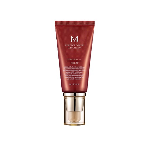 Missha Krem BB No. 27  M Perfect Cover z wysoką ochroną UV odcień -  Honey Beige SPF42/PA+++ 50 ml
