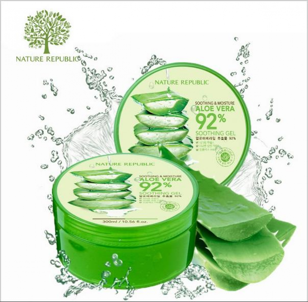 Nature Republic, Aloe Vera 92% Soothing Gel (Żel aloesowy) - 300 ml