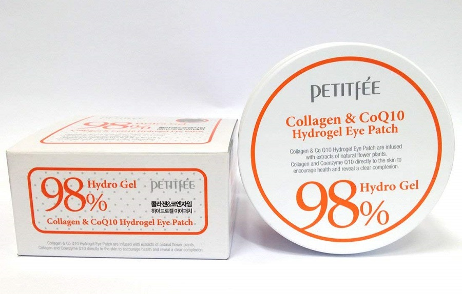 PETITFEE 98% Hydro Gel Collagen Coenzyme Q10 Eye Patch 60ea